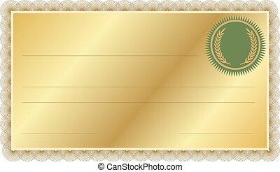 frontière, certificat