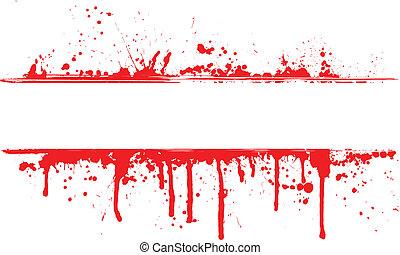 frontière, sanguine, splat
