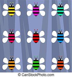 froussard, abeilles, retro