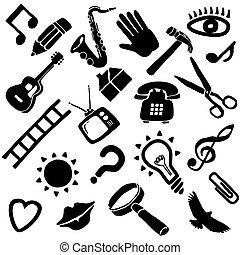 froussard, vecteur, objets