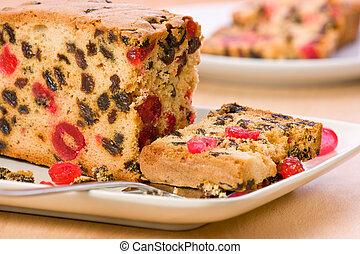 fruit, cake., frais, succulent