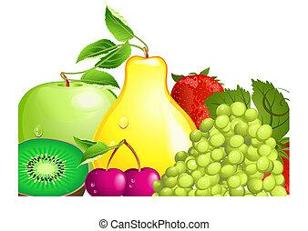fruit, juteux