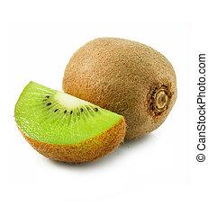 fruit kiwi, frais, isolé, blanc