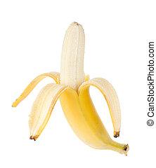 fruit, ouvert, banane