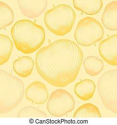 fruit, seamless, papier peint, pomme, pattern.
