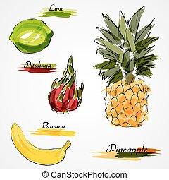 fruits, entier