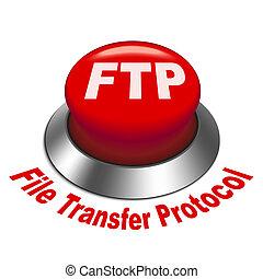 ftp, protocole, ), transfert, bouton, illustration, fichier, (, 3d