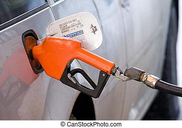 fueling, haut, véhicule
