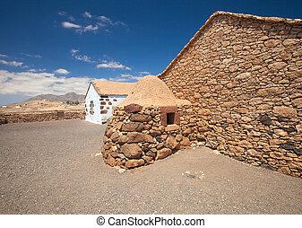 fuerteventura, air, ouvert, intérieur, musée, alcogida, ecumuseo, la