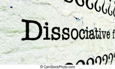 fugue, désordre, dissociative