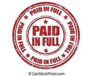 full-stamp, payé