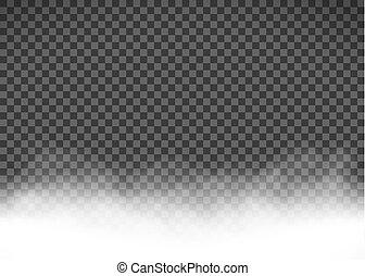 fumée, brouillard, ou, fond, isolé, transparent, blanc