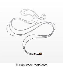 fumée, cigarette