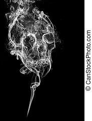 fumée, crâne