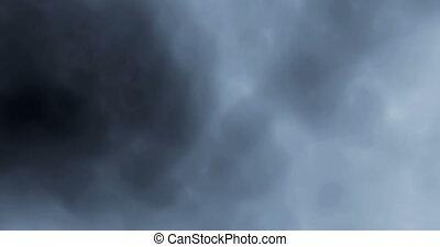 fumée, espace, seamless, contre, lentement, 4k, fond, numérique, par, flotter, perfectly, boucle, noir