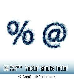 fumée, lettre