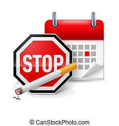 fumer, non, jour, icône
