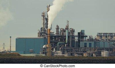 fumer, plante, puissance, raffinerie pétrole