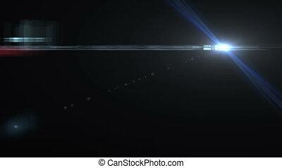 fusée objectif, animation, lumières