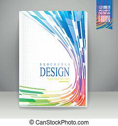 fuselé, brochure, fond, géométrique