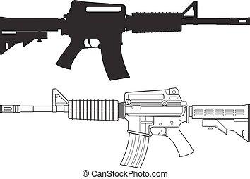 fusil, assaut, américain