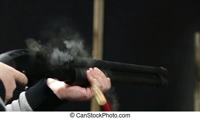 fusil chasse, -, coup, hd