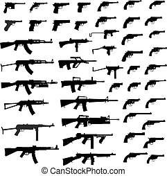 fusil, grand, collection