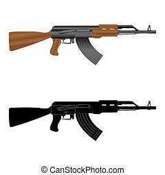 fusil, kalashnikov, assaut, ak-47