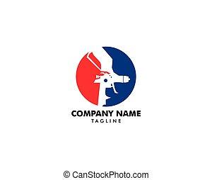 fusil, peinture, gabarit, logo, conception, pulvérisation
