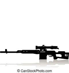 fusil, tireur embusqué