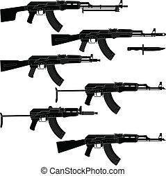 fusils, assaut