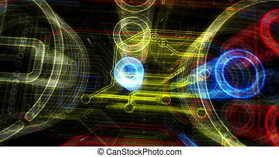 futuriste, esport, cyber, jeu, animation