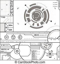 futuriste, utilisateur, graphique, interface