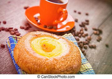 gâteau, café