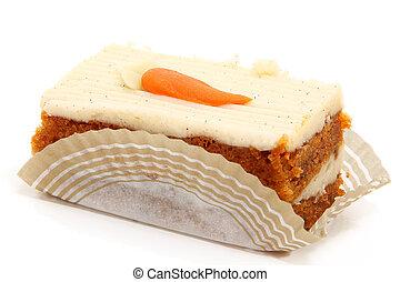 gâteau, carotte, couper