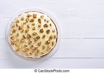 gâteau, carotte, vue, sommet