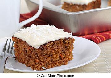 gâteau, dessert, carotte
