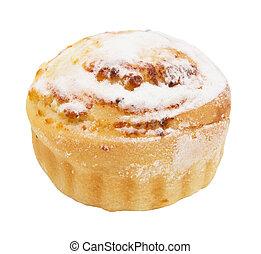 gâteau, doux, fond blanc