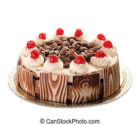 gâteau, entier, beau
