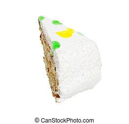 gâteau, fond blanc