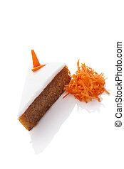 gâteau, isolated., carotte