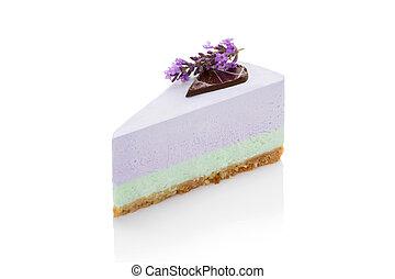 gâteau, isolated., lavande, délicieux