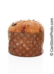 gâteau, isolated., panettone