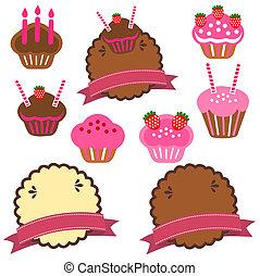 gâteau, patisserie, collection