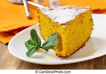 gâteau, poudre, carotte, sucre