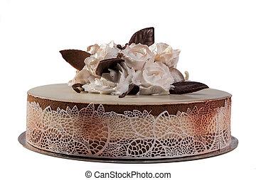 gâteau, roses