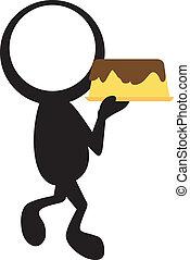 gâteau, stickman