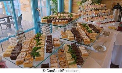 gâteaux, invités., appétissant