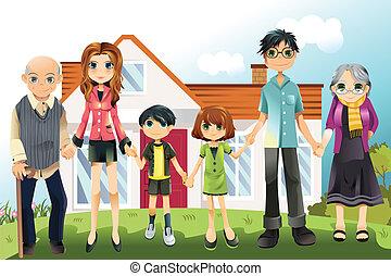 génération, multi, famille
