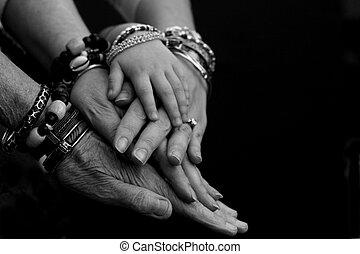 générations, mains